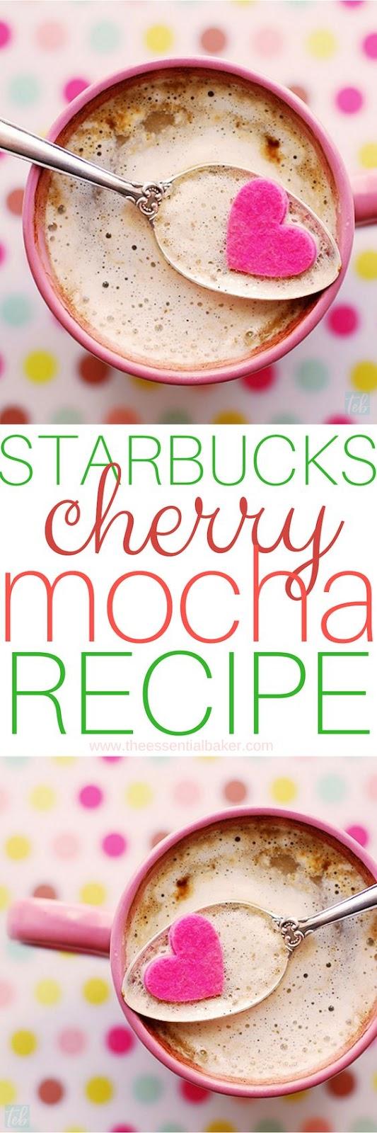 Copycat Starbucks Cherry Mocha Frappuccino copy cat recipes