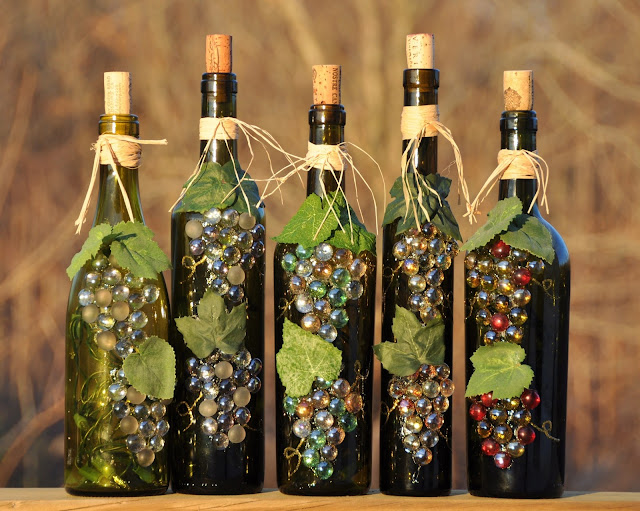 glass bottle art crafts