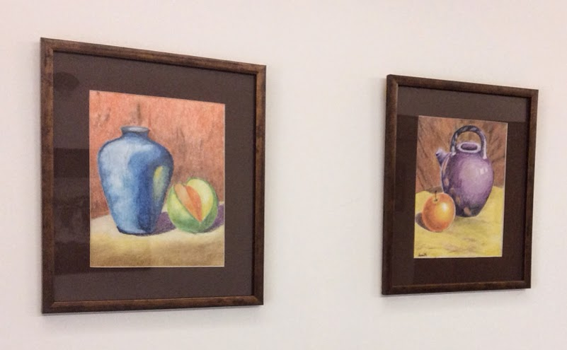 paintings done using colour pencils in an art workshop by manju panchal