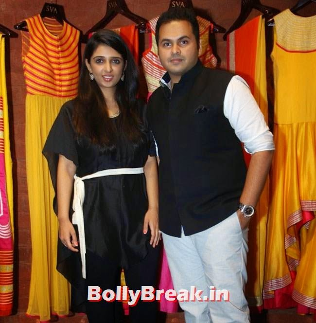 Sonam and Paras Modi, Mandira Bedi, Neha Sharma, Karishma Tanna, Satyarupa  Photos from SVA Bridal Store Opening