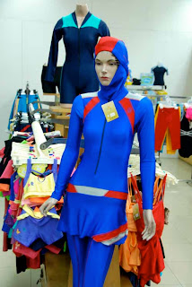 Girl Women Muslim Bathing Suit Jakarta Indonesia