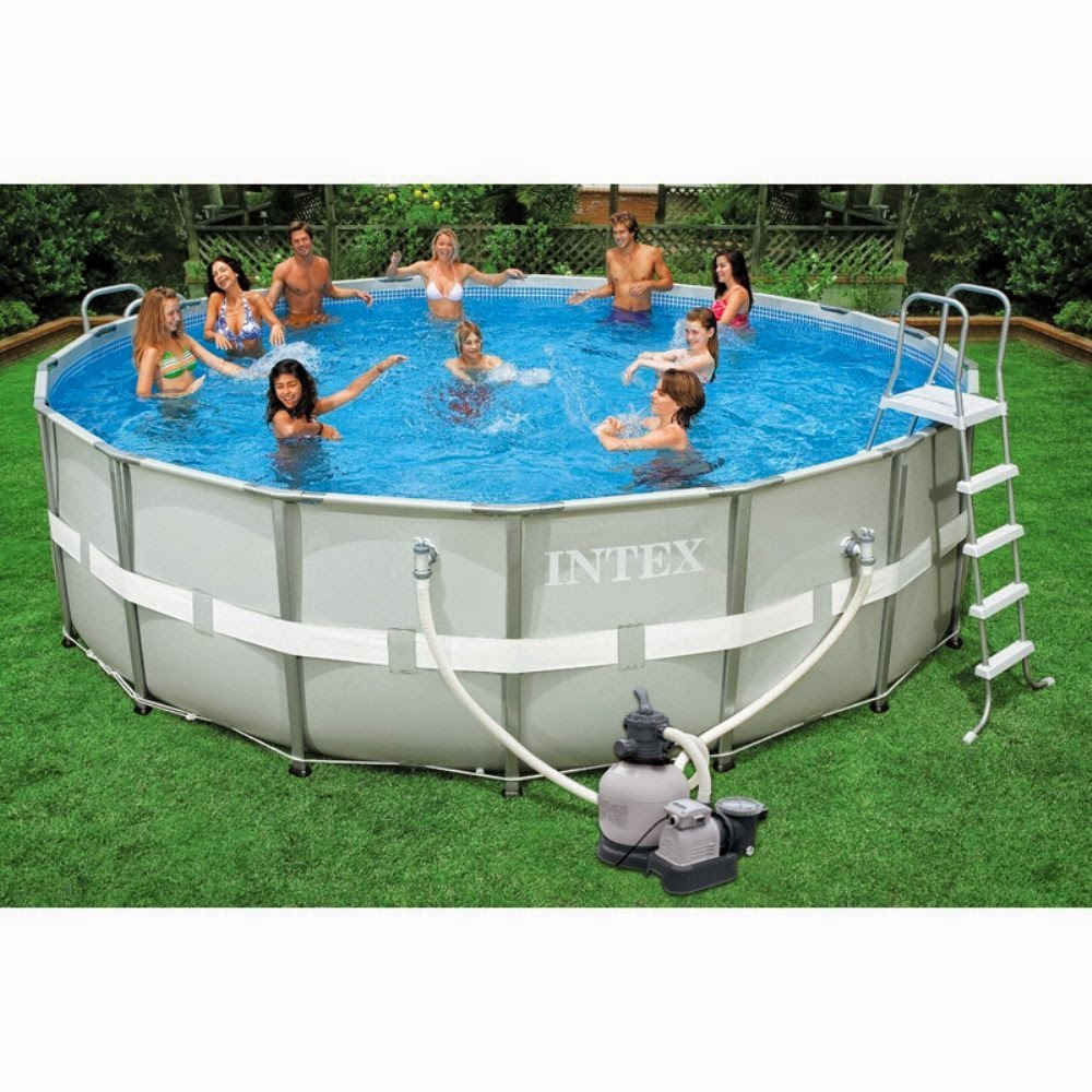 Best seller intex pools reviews intex pools 18 x 52 - Intex 18 x 9 x 52 ultra frame swimming pool ...