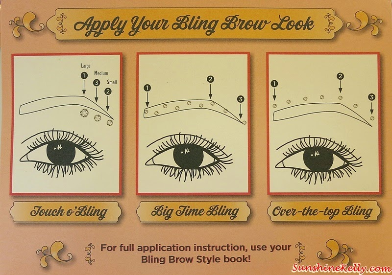 Benefit Bling Brow, Benefit Cosmetics, Bling Brow, Swarovski Crystals, Swarovski Crystals jewelry, Swarovski Crystals jewelry on brow face body, Touch O Bling, Big Time Bling, Over The Top Bling, Swarovski Crystals Bling