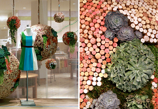 Anthropologie windows earth day