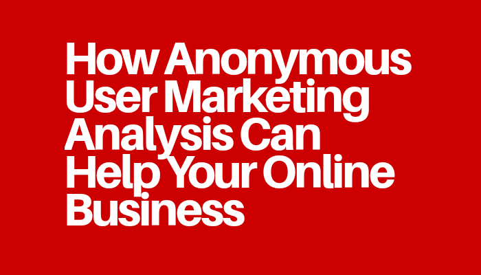 How Anonymous User Marketing Analysis Can Help Your Online Business