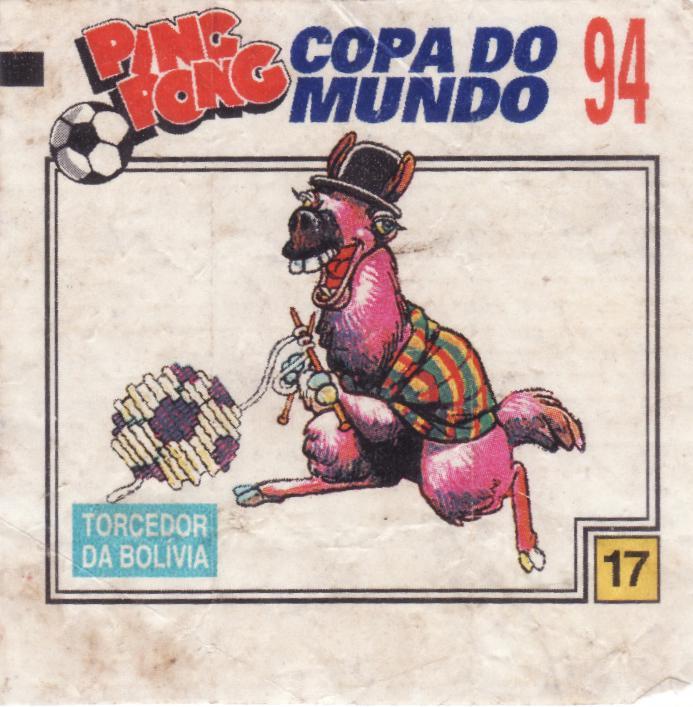Chicle de Bola Ping Pong Copa do Mundo 1994  abd9326ca18d8
