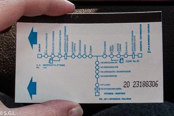 Ticket de la A8