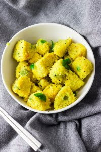 How to make instant khira dhokla recipe at www.oneteaspoonoflife.com