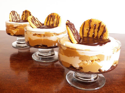 peanut butter and fluff mini trifle collage