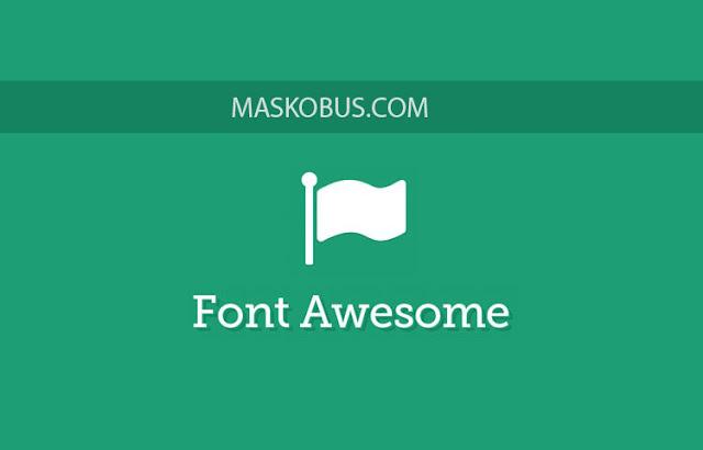 Font awesome untuk web aplikasi