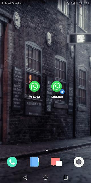 muncul 2 ikon whatsapp di layar utama