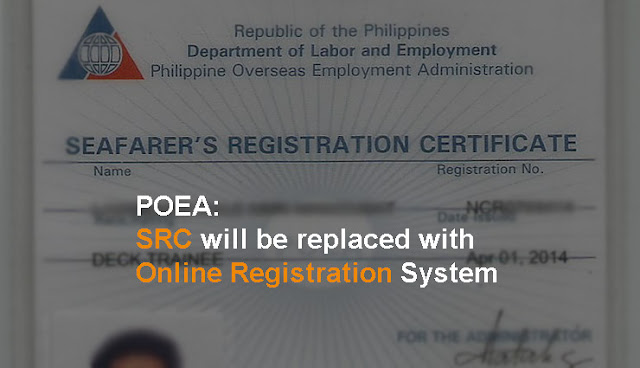 POEA announced the Online Registration System for Filipino Seafarers