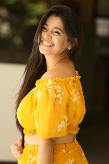 Chandni Bhagwanani Pictures in Yellow Dress