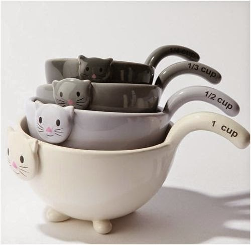 Ceramic cat cups