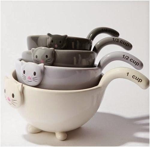 Ceramic cat cups