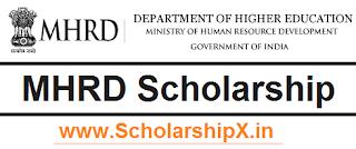 MHRD Scholarship 2017-18