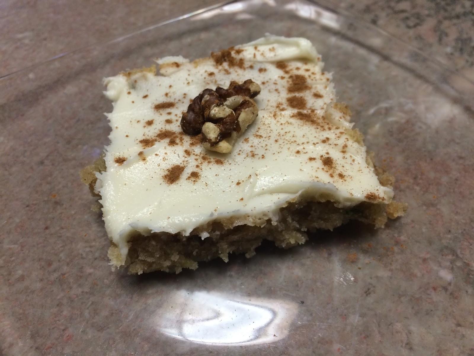 Zucchini Walnut Cake With Cream Cheese Icing