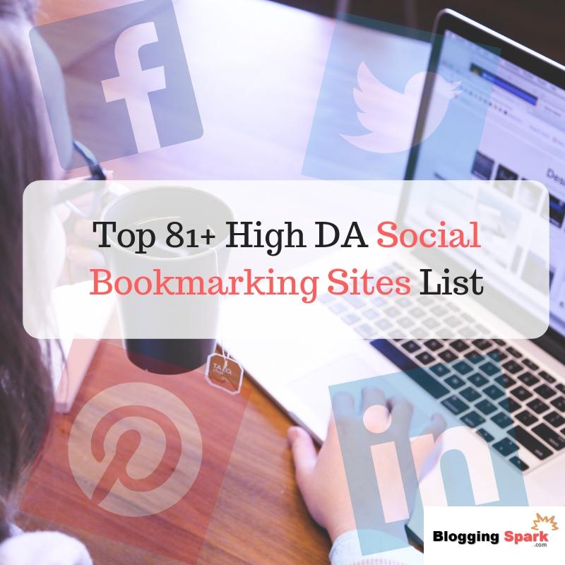 top 81+ high da social bookmarking sites list