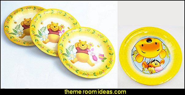 Winnie the Pooh Plate Children Party Supplies Theme Kids  bee themed party - bumble bee decorations - Bumble Bee Party Supplies - bumble bee themed party - Pooh themed birthday party - spring themed party - bee themed party decorations - bee themed table decorations - winnie the pooh party decorations - Bumblebee Balloon -  bumble bee costumes