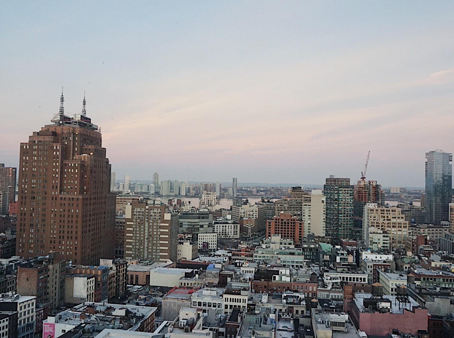 The view of Soho from The Nomo Soho Hotel NYC