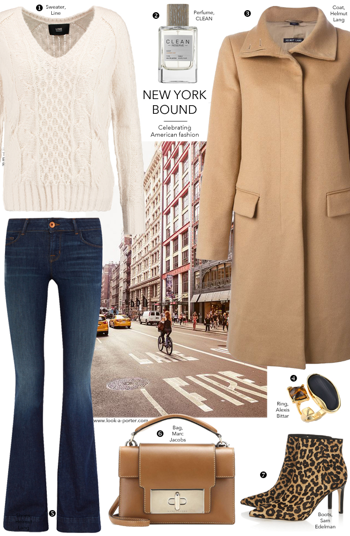 Another outfit idea inspired by New York fashion week and styled with pieces designed in the US via www.look-a-porter.com style & fashion blog featuring Helmut Lang, Line, Sam Edelman, Marc Jacobs & more