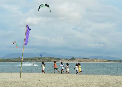 Coastal Children Puro Pinget Island Magsingal Ilocos Sur Philippines