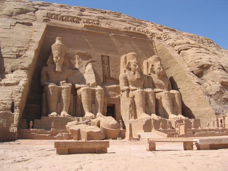 El Templo de Abu Simbel en Egipto