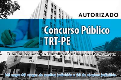 TRT 6ª Região (PE) edital concurso público 2017
