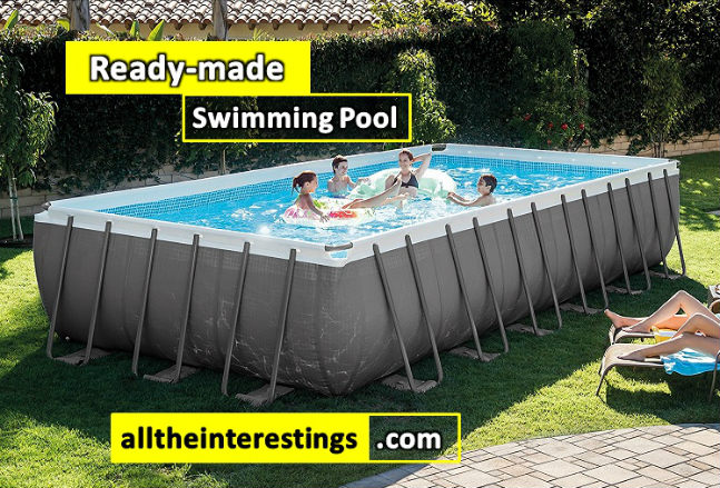 Ready-made Swimming Pool - Review, Intex 24ft X 12ft X 52in Ultra Frame Rectangular Pool Set, portable swimming pool for adults, diy, build your own at backyard