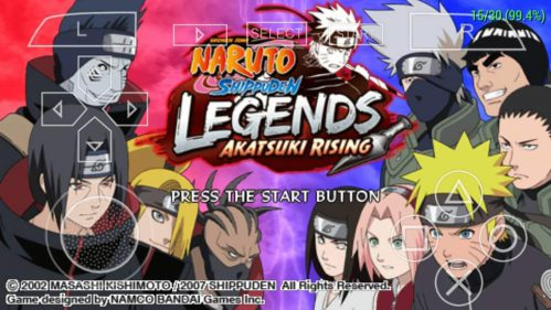 Naruto Shippuden Legends Akatsuki Rising PSP ISO Free Download