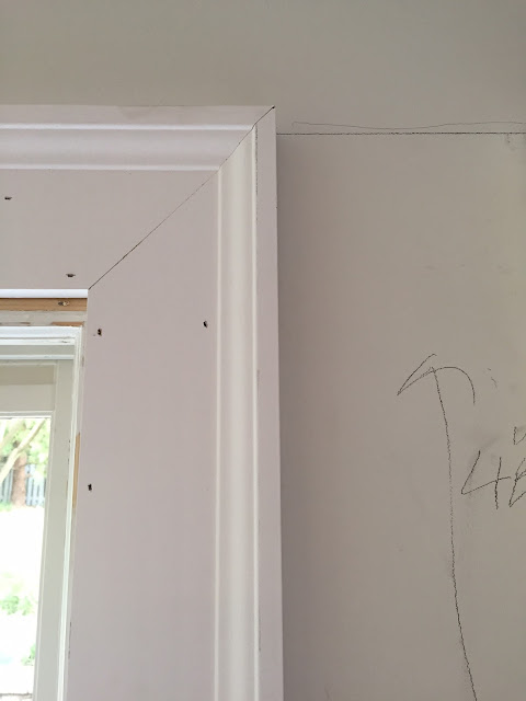 What i have learned so far with my kitchen makeover for What is the trim around a door called
