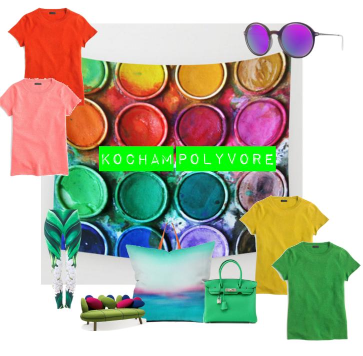 """Love """" vivid colors """" Pokochać  """"żywe kolory"""""""
