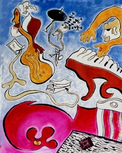 'Boogie Blues Night', multi-media by Minaz Jantz