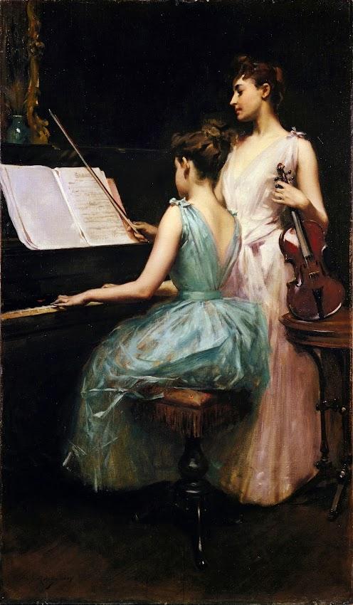 Irving Ramsay Wiles - The Sonata (c.1889)