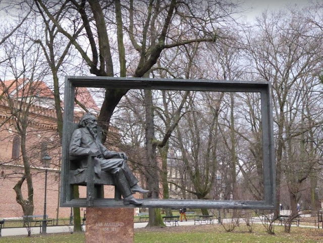 la scultura che raffigura il poeta Jan Matejko
