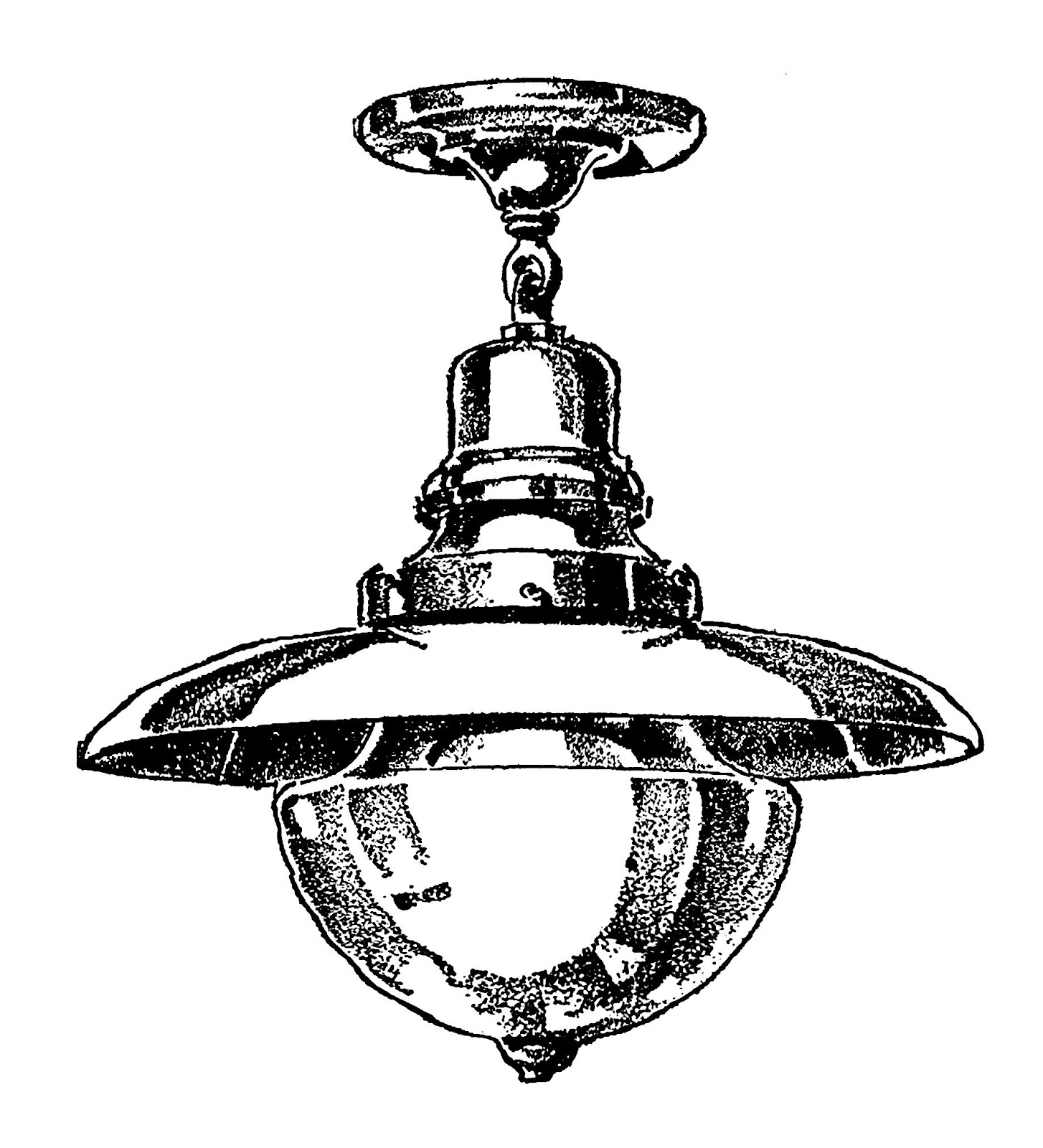 Digital Stamp Design Ceiling Light Stock Illustration