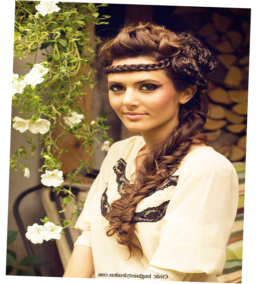 different hairstyles for long hair 2014 Latest Design photo