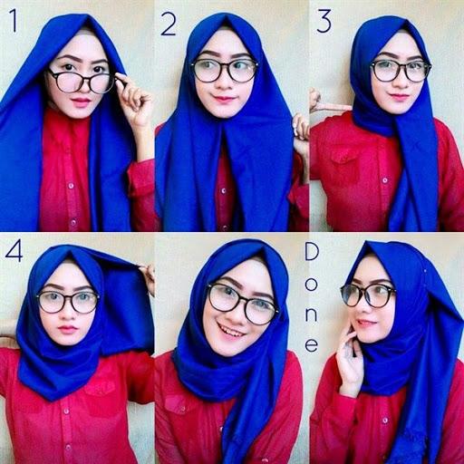 tutorial hijab segi empat kerja terbaru