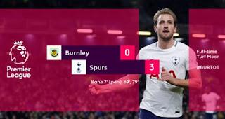 Tottenham Hotspur Menang 3-0 di Kandang Burnley, Kane Hattrick