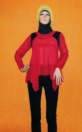 Baju Bahan Sifon Motif Polka BS5021
