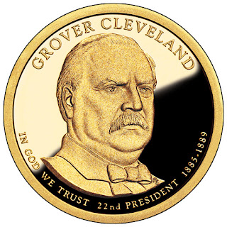 Grover Cleveland, First Term 2012 US Presidential One Dollar Coin