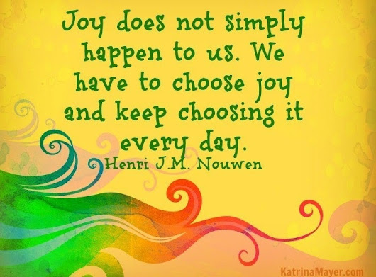 Commit to Focusing on Joy