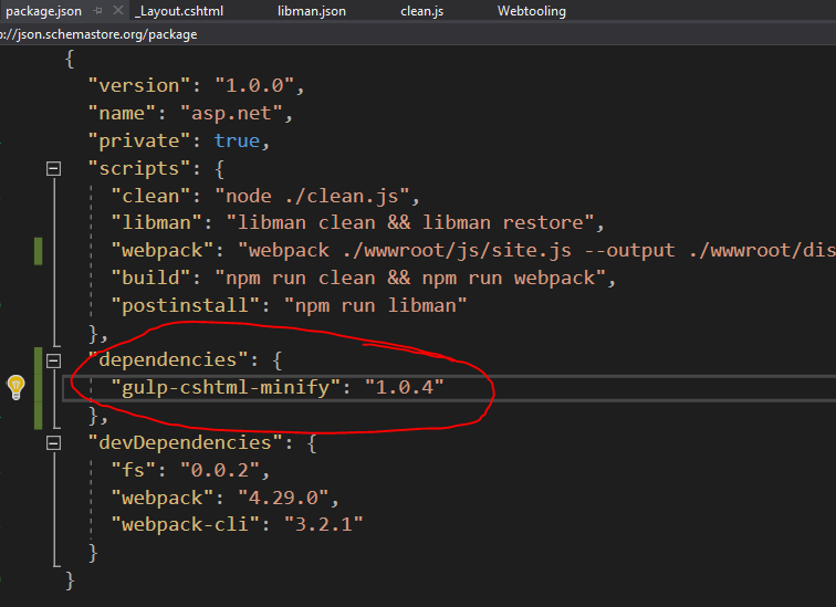 ASP NET Core 2 2 with LibMan, NPM and Webpack 4