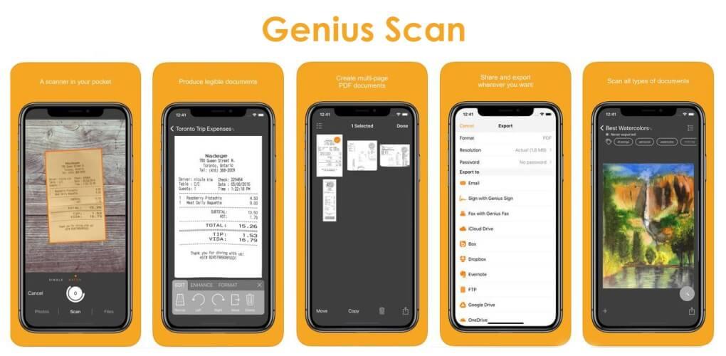 Aplikasi Scanner - Genius Scan