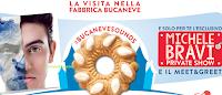 Logo Concorso ''La magica fabbrica Bucaneve'': vinci 50 soggiorni alla fabbrica Doria e spettacolo Michele Bravi