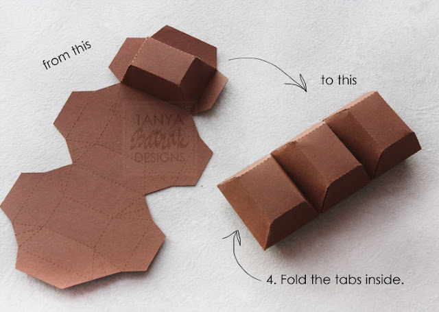 how to make big paper chocolade bar