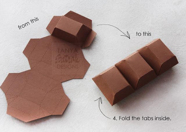 how to make big paper chocolade bar