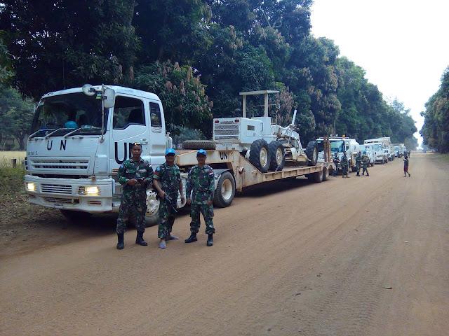 Satgas Kizi TNI di Afrika Tengah Perbaiki Jalan Sepanjang 200 Km