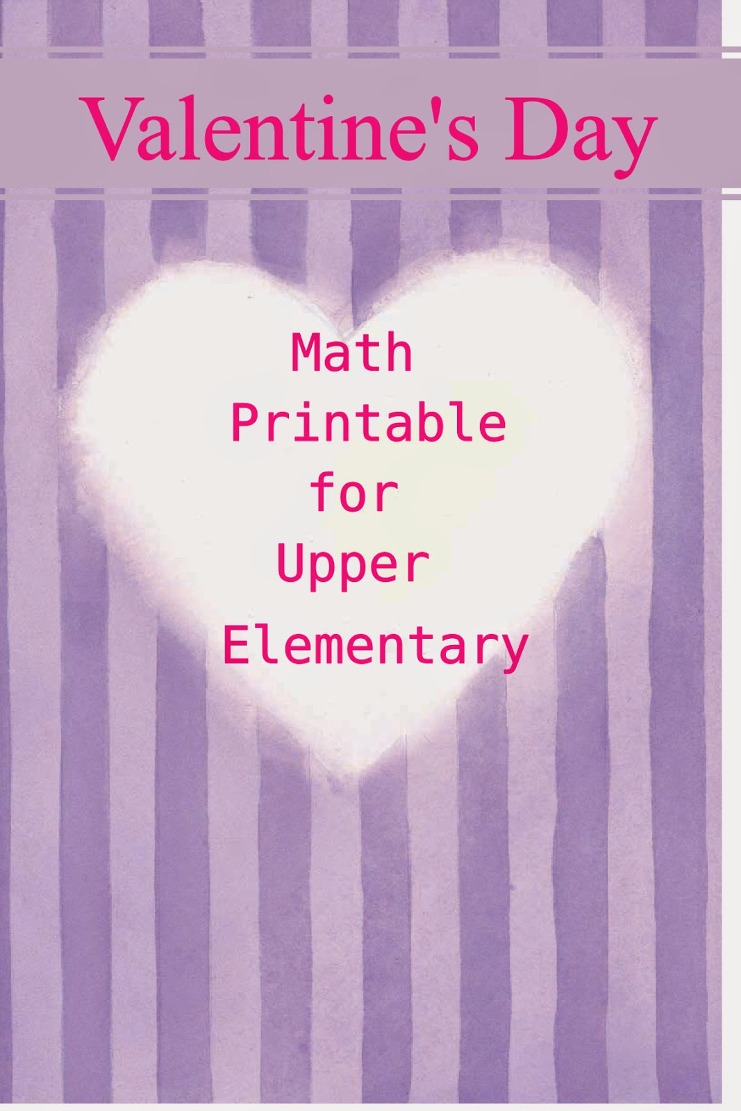 Valentine S Day Math Printable