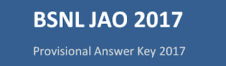BSNL JAO 2017 Question Papers Download and Provisional Answer Key 2017